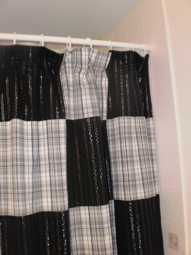 Plaid Shower Curtains Fabric