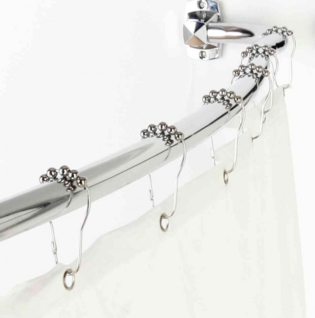 Shower Curtain Rod Height Curved
