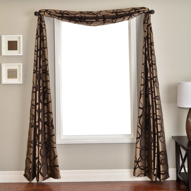 Scarf Curtain Decorating Ideas