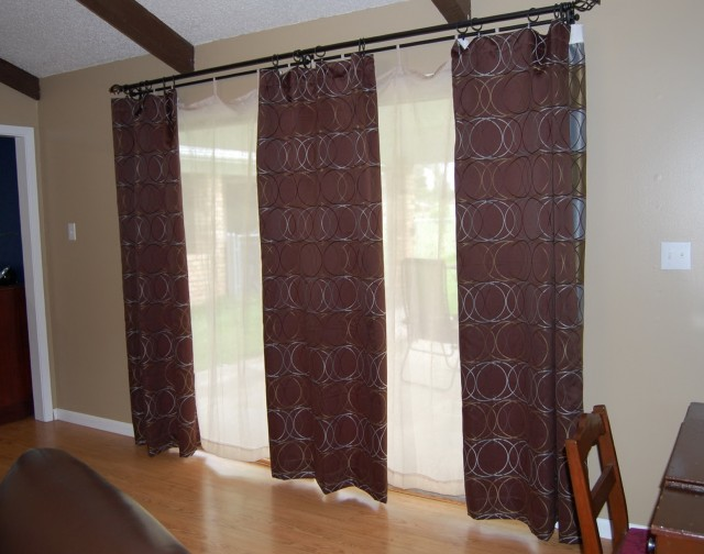 Sliding Door Curtain Ideas Pinterest