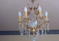 Antique Bronze Crystal Chandelier