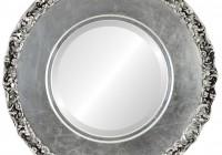 Antique Silver Round Mirror