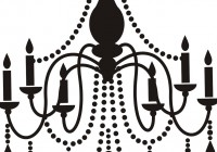 Black And White Chandelier Clip Art