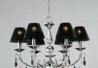 black chandelier light shades