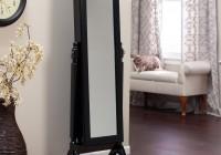 Black Mirrored Jewelry Armoire