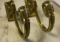 Brass Cafe Curtain Rod Brackets