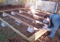 Building A Freestanding Deck With Deck Blocks