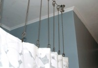 ceiling mounted shower curtain rods