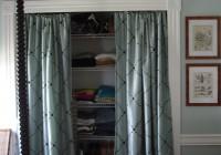 closet door curtains instead