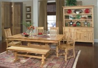 Country Dining Sets With Bench