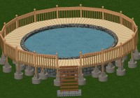 Deck Plans For Above Ground Pools 24′