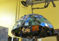Dragonfly Stained Glass Chandelier