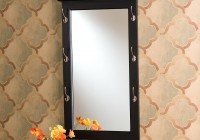 Entry Mirror With Hooks Espresso
