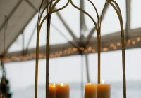 faux pillar candle chandelier