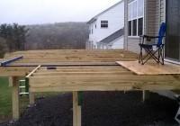Freestanding Deck Plans Designs