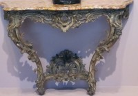Gold Console Table Marble Top