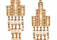 Gold Crystal Chandelier Earrings