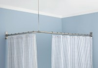 l shaped shower curtain rod home depot