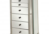 Large Mirrored Jewelry Cabinet