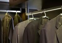 lighted closet hanging rods