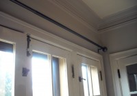 long curtain rods without center support