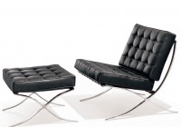 Modern Leather Chair With Ottoman