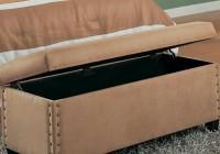 Nailhead Upholstered Storage Bench