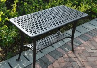 Patio Side Table Black