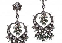 Pearl Diamond Chandelier Earrings