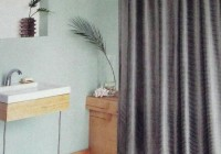 Polyester Shower Curtain Gray