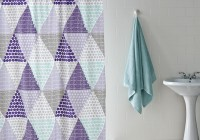 Purple And Grey Shower Curtains