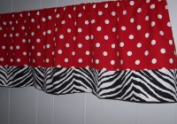 Red White And Black Curtains