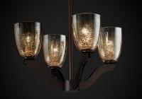 Round Mercury Glass Chandelier