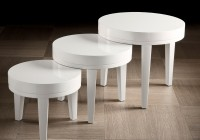 Small White Accent Table