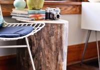 Tree Stump Side Table Diy