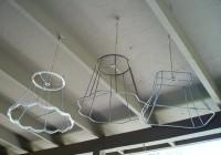 Vintage Lamp Shade Chandelier