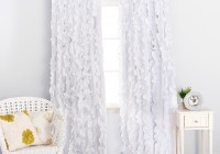 White Ruffle Blackout Curtains