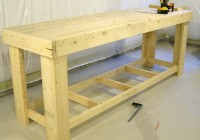 wooden work bench plans