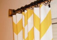 Yellow And White Zig Zag Curtains