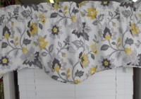 Yellow Grey And White Curtains
