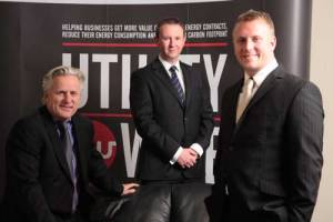 From left to right: Utilitywise's Geoff Thompson (CEO), Andrew Richardson (CFO) and Adam Thompson (COO)