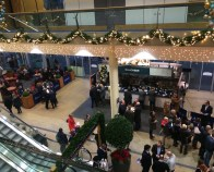 Ascot Racecourse used our commercial luxury garlands with warm white lighting in Christmas 2017