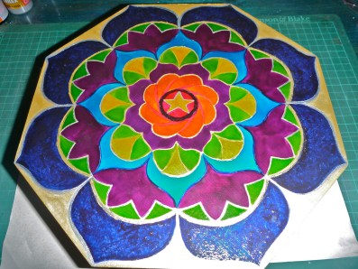 Hand painted mandala box