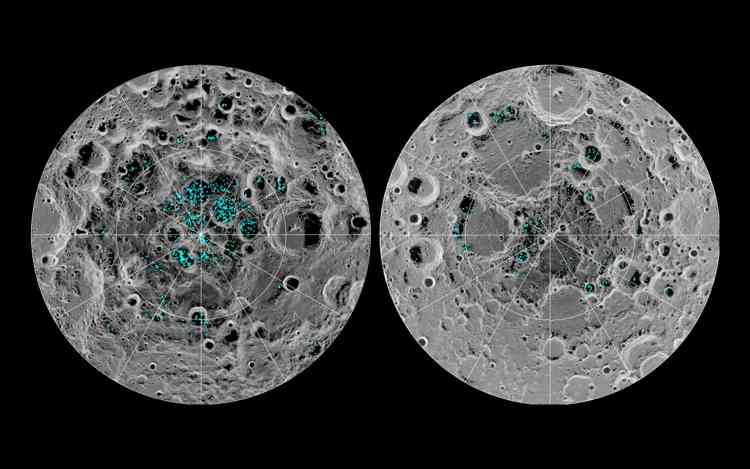Ice On The Lunar Surface