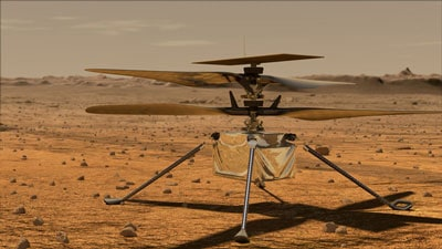 First Helicopter To Fly On Mars