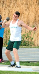 Matt Amos finished third in the shot put and second in discus.