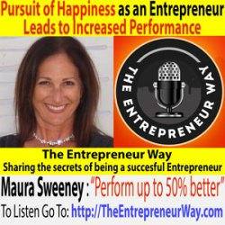 061: Pursuit of Happiness as an Entrepreneur Leads to Increased Performance with Maura Sweeney Cofounder of New Vision Entertainment LLC