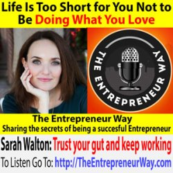 579: Life Is Too Short for You Not to Be Doing What You Love with Sarah Walton Founder and Owner of When I Grow up Consulting