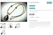 Earth Drop Necklace