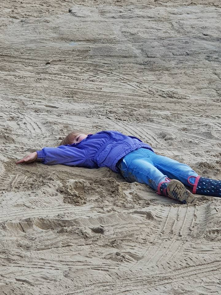 Making Sand Angels